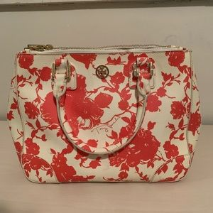 Authentic Tory Burch Small Printed Robinson Tote